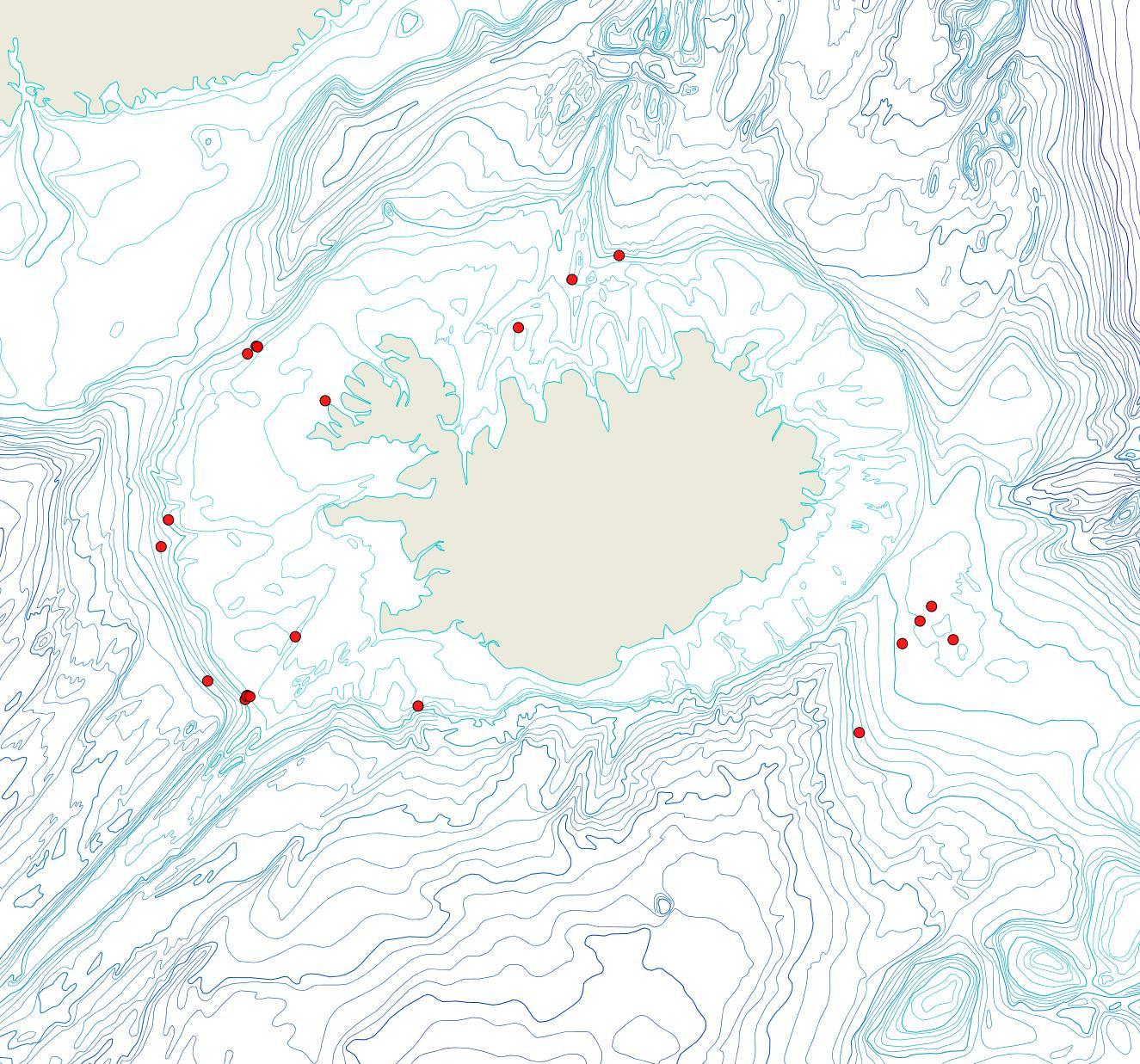 Útbreiðsla Hemicyclopora polita(Bioice samples, red dots)