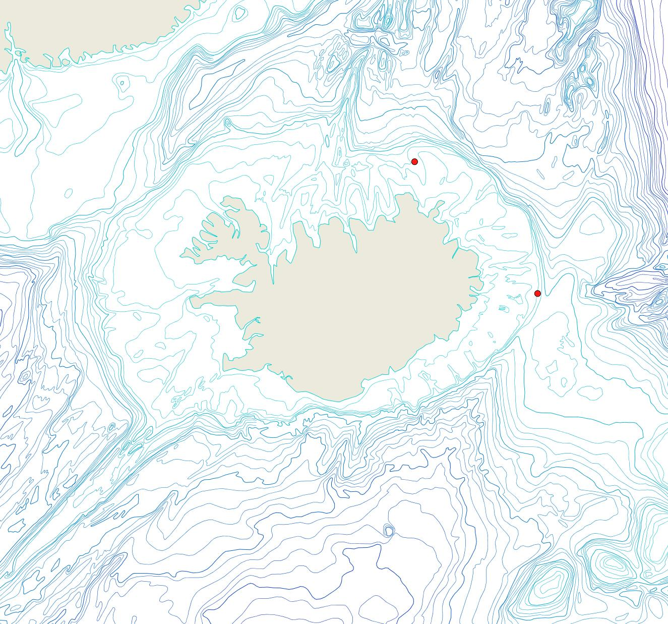 Útbreiðsla Parasmittina jeffreysi(Bioice samples, red dots)